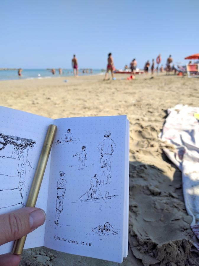 Back Pocket Notebook pictures on the beach