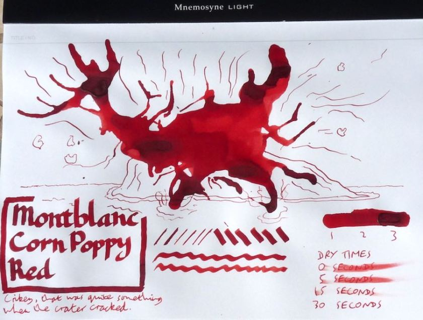 Montblanc Corn Poppy Red Inkling