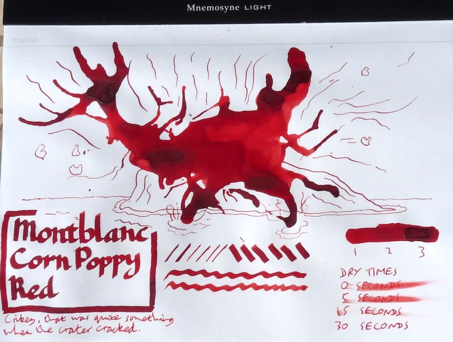 Montblanc Corn Poppy Red Inkling