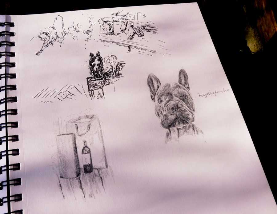 Denik Sketchbook pencil
