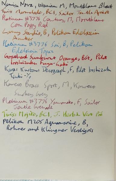 Viaggio Notebook ink test front