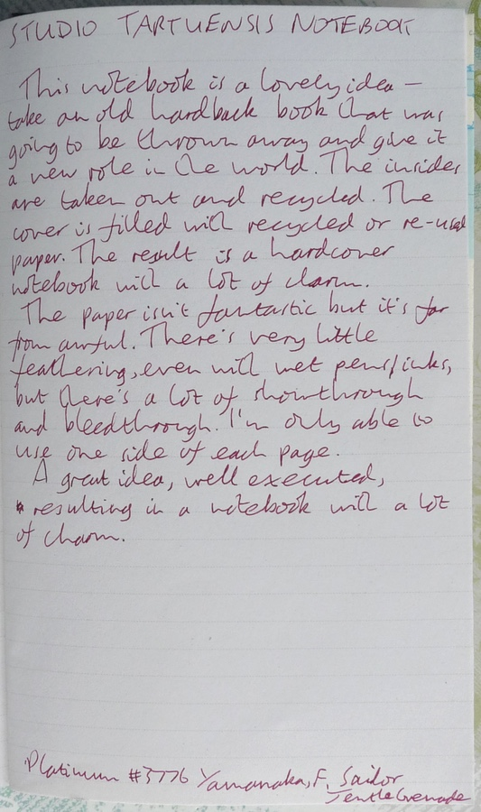 Studio Tartuensis Notebook handwritten review