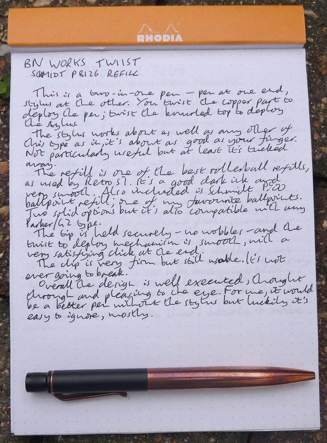 BN Works Twiist handwritten review