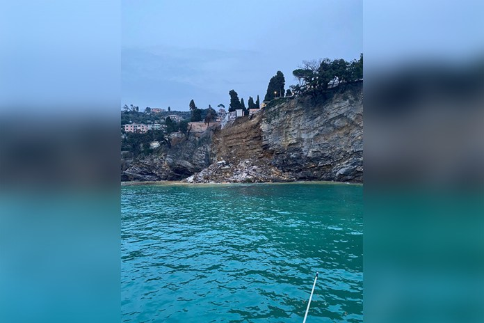 Hundreds of coffins plummet into the sea after landslide at Italian cemetery