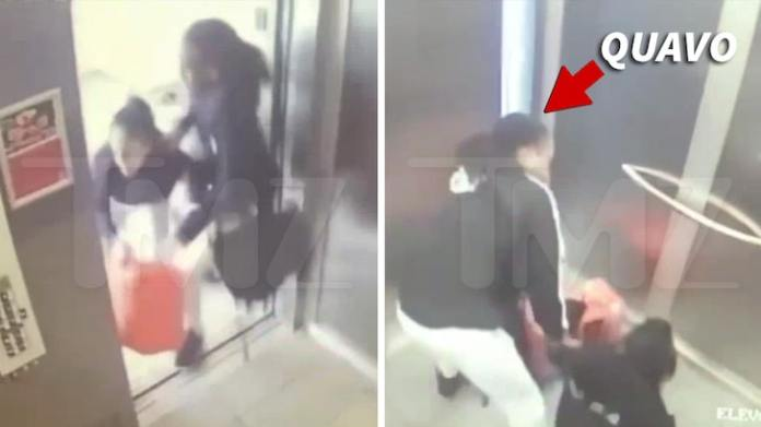 Quavo & Saweetie Physical Altercation in Elevator Caught on Video