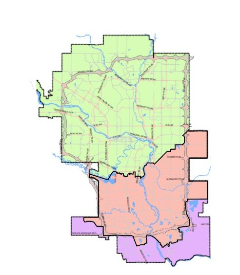 A screenshot of the map of Calgary on the chi-csm.ca website as of March 8, 2021.