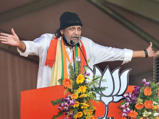 How Bollywood actor Mithun Chakraborty came to be a BJP star