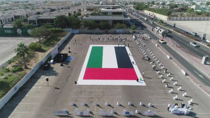 Look: Dubai charity food drive forms world's largest greeting card mosaic - News