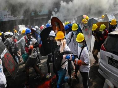 Myanmar sees fresh violence: Three protesters shot dead; shops and factories shutter amid call for general strike