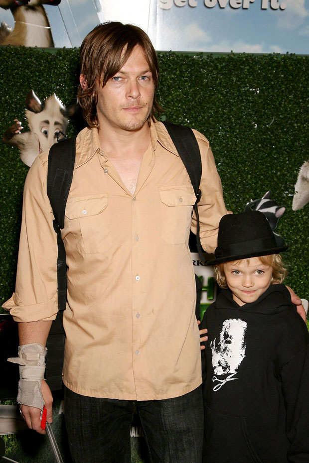 Norman Reedus with son Mingus: