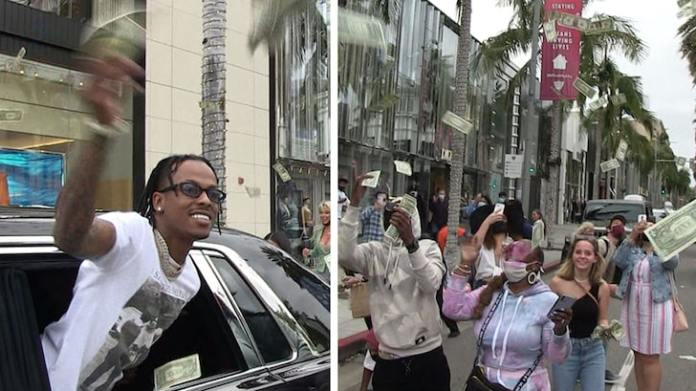 Rich The Kid Makes it Rain on Rodeo Drive, Fans Get Cash, He Gets a Ticket