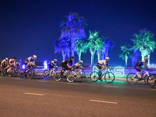 Rashid Al Balooshi, winner of the 127km Al Salam Cycling Championship race for Emirati amateurs in December, added the 75km Nad Al Sheba Sports Tournament Cycling's Amateur UAE Men's title to his resume on Saturday night in a tight finish where the top three were separated by a second.