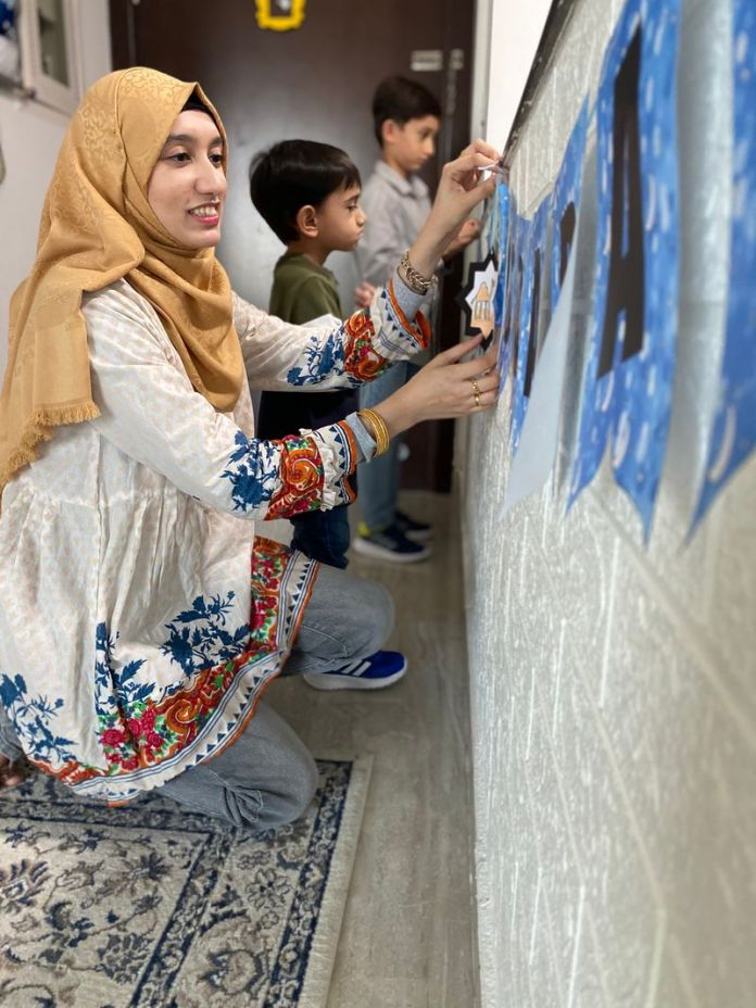 Quiet activities, like opening the countdown to Eid calendar, which is full of good deeds to do each day, have been occupying her family's time this year