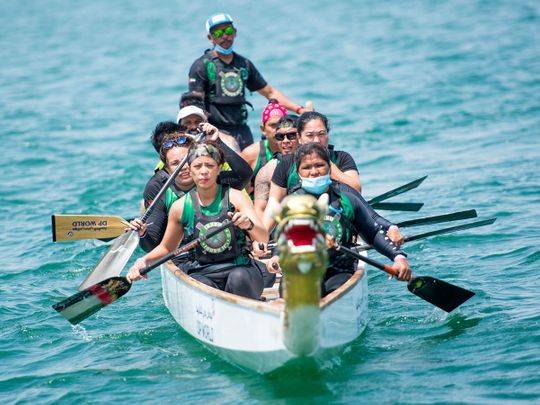 Hundreds of rowers compete in Dubai Dragon Boat Race challenge