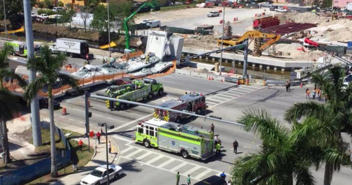 Firms involved in construction of bridge that collapsed have history of safety complaints