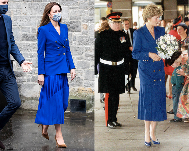 Kate Middleton's Blue Dress Is Near Identical To One Wore By Diana – Hollywood Life