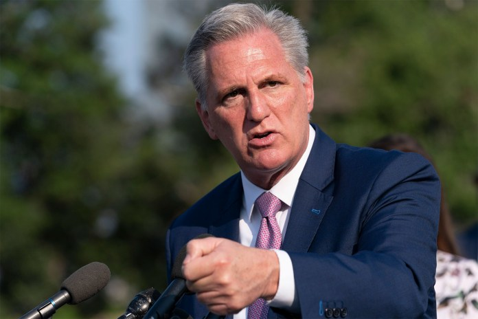 House Minority Leader Kevin McCarthy claimed that that Pelosi's decision does not stem from science, but from liberals who want to continue to live in fear.