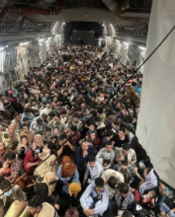 Approximately 640 Afghan citizens are transported Hamid Karzai International Airport to al-Udeid Air Base, in Qatar.
