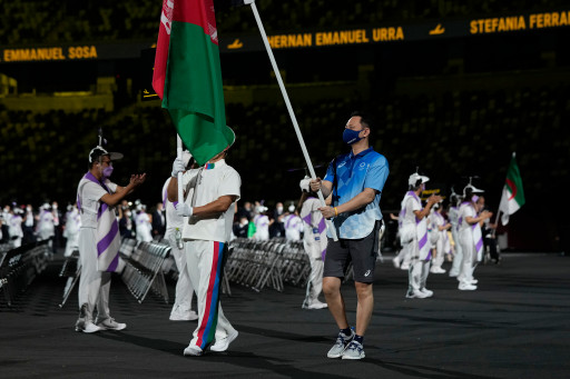 """The Afghan flag was waved during the 2020 Paralympics as a """"sign of solidarity"""" on August 24, 2021."""
