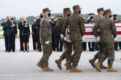Thirteen members of the US military were killed in Afghanistan after a suicide bombing at the Kabul airport.