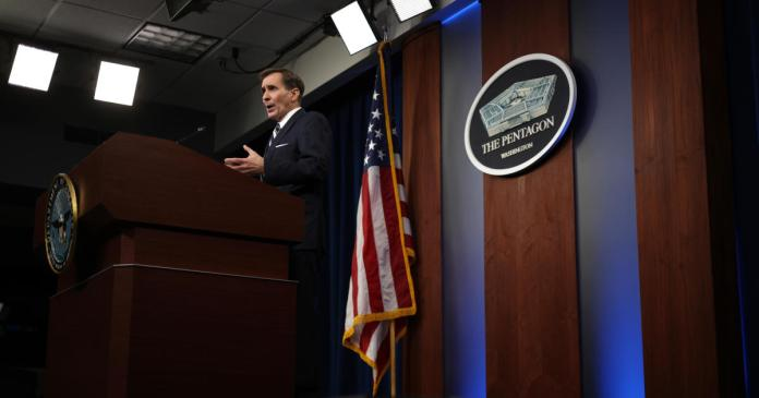 Pentagon press secretary holds news conference after U.S. airstrike in Afghanistan