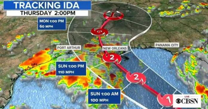 Tropical Storm Ida expected to strengthen into hurricane ahead of landfall in U.S.