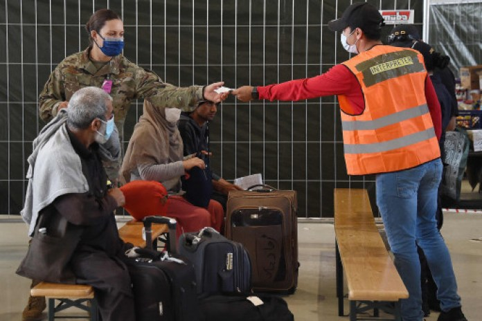 About 22,00 of the 34,000 Afghan refugees at Ramstein Air Base have left the base for other locations.