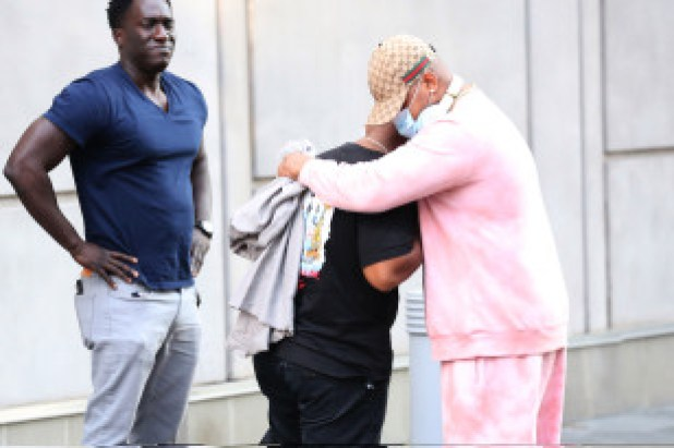 People gather outside of Michael K. Williams' Brooklyn apartment to mourn the actor.