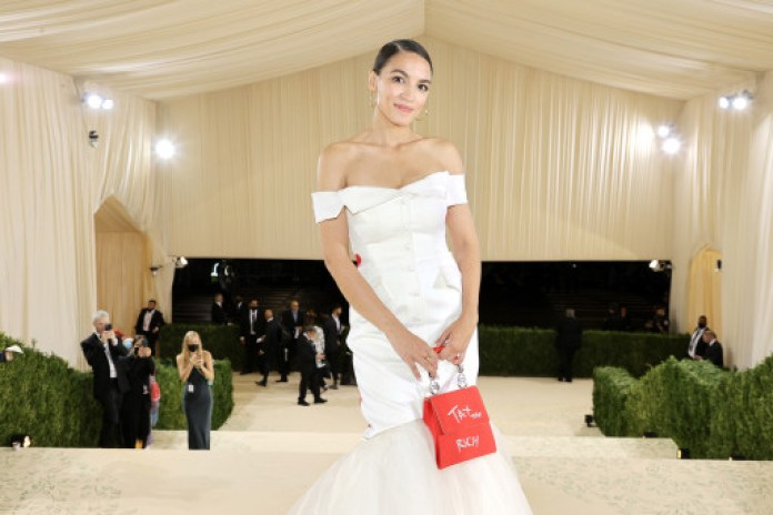 Cortez departs The 2021 Met Gala Celebrating In America: A Lexicon Of Fashion at Metropolitan Museum of Art on September 13, 2021 in New York City.