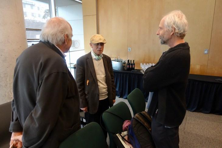 Paul Chamberland, Georges Leroux et Jean-Claude ravet, deux membres du jury