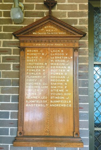 Honor board from St Nicholas of Myra