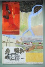 The original crossing point of the river, the Government Agricultural Farm, the Joan Sutherland Performing Arts Centre and a panel based on a wall hanging by Margo Lewers.