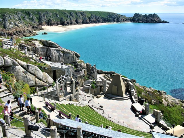 The famous clifftop Minack Theatre