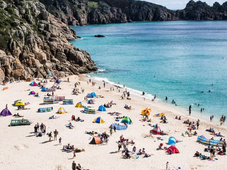 Porthcurno Beach, down from the Minack Theatre