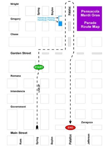 Mardi Gras Parade Routes : mardi, parade, routes, Pensacola, Mardi
