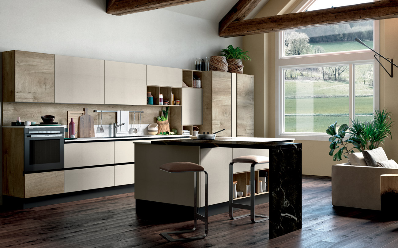 stunning cucina con isola stile ed eleganza naturale with
