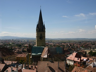 Uitzicht over Sibiu, Roemenië