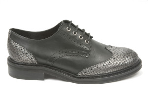 Derbies Lester Black Silver, par Koah