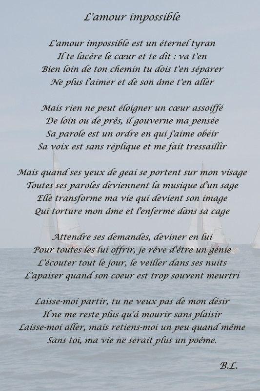 Poeme Pour Elle Que J Aime : poeme, L'Amour, Impossible