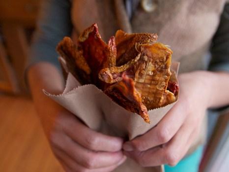 Chips de tomates déshydratées