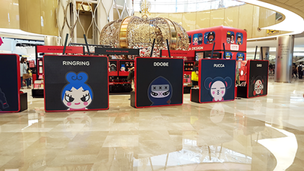 Pucca pop-up store in Seoul