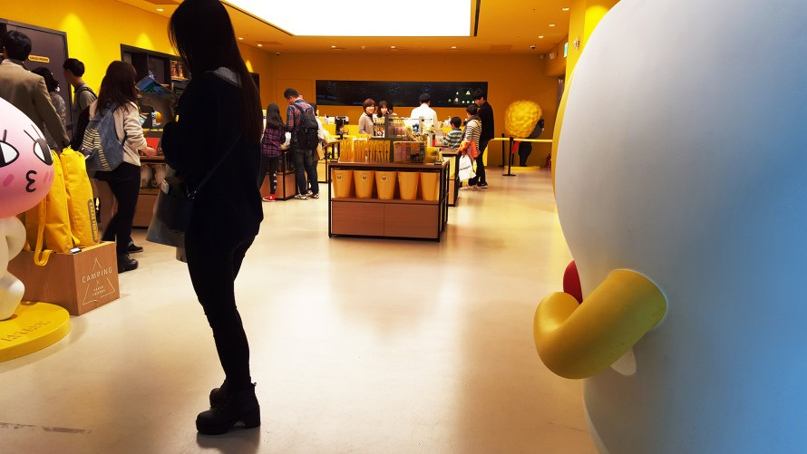 Inside of the Kakao Friends store