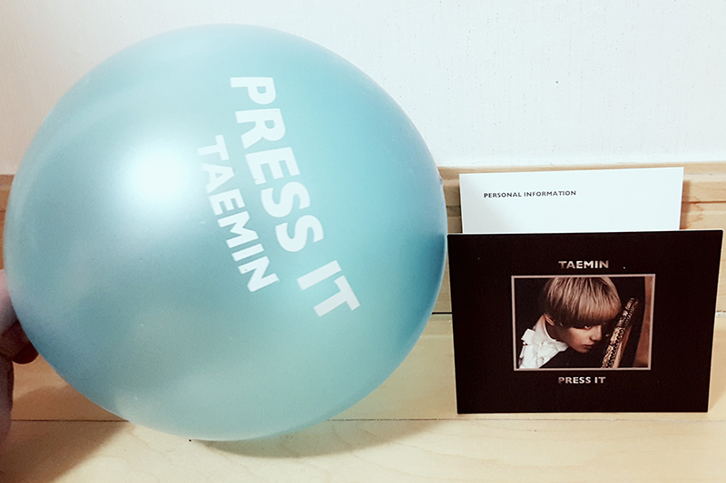Fan goods from Taemin's pre-recording