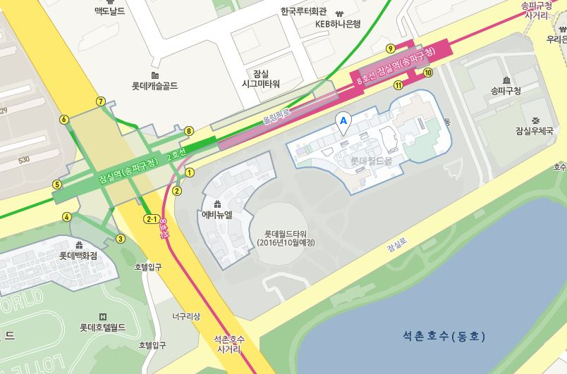 Map to Lotte World Mall