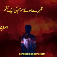 ٹھہرے ہوئے موسم کی ایک نظم ۔۔۔ اصغر ندیم سید