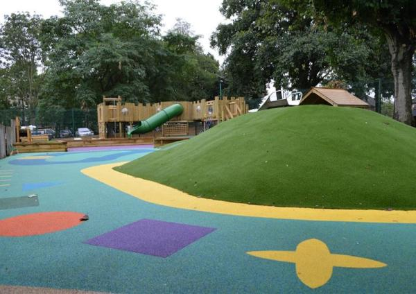 playground landscaping & school