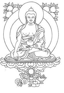 Boeddha tekening