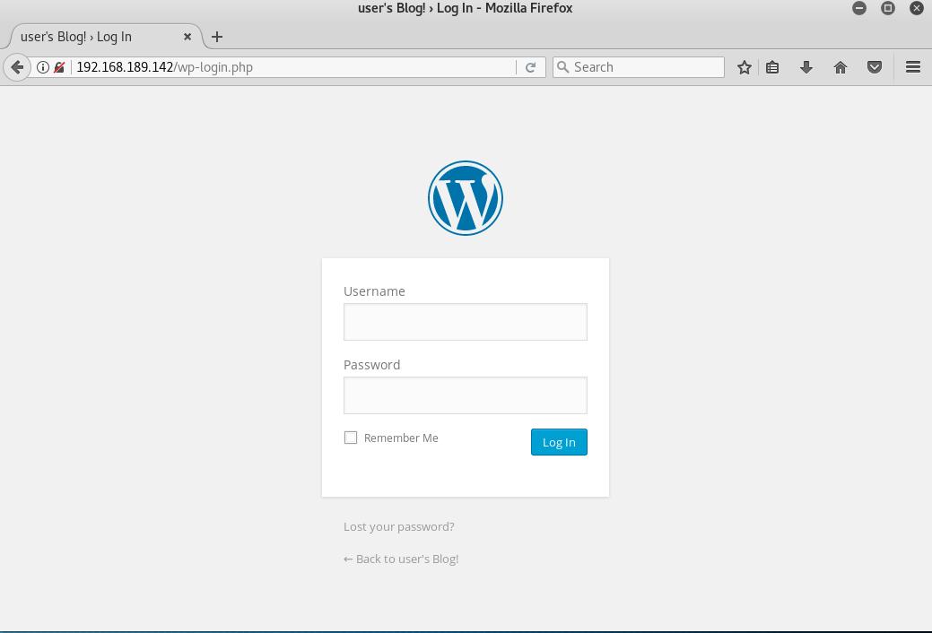 wordpress wp-login