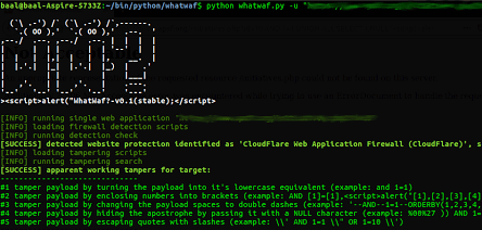 WhatWaf - Detect And Bypass Web Application Firewalls And