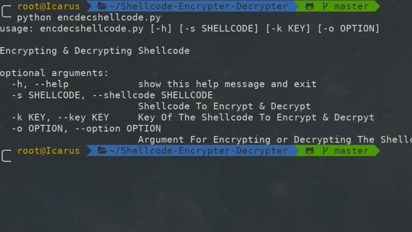 Shellcode-Encrypter-Decrypter - Shellcode Encrypter